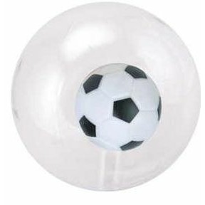 "16"" Inflatable Transparent Beach Ball w/ Inflatable Soccer Insert©"