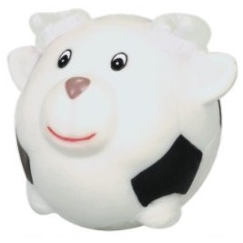 Rubber Soccer Ball Shaped Sheep Dog Toy©