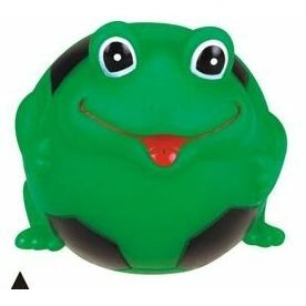 Rubber Soccer Ball Shaped Frog Dog Toy©