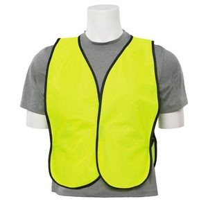 S19 Aware Wear® Non ANSI Tight Weave Mesh Lime Vest w/ Hook & Loop