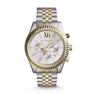 Michael Kors Mens Lexington Silver and Gold-Tone Watch