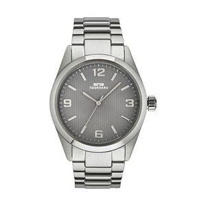 Tourneau Mens Steel Gray Dial Watch