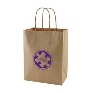 "Natural Kraft Shopping Bag (8""x4.75""x10.25"")"