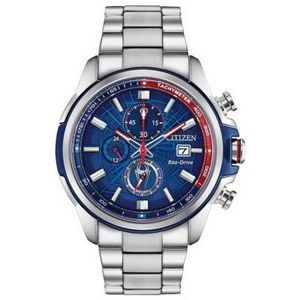 Marvel by Citizen Men's Spider-Man Eco-Drive Stainless Steel Watch w/Blue Dial
