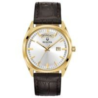 Bulova Men's Watch with Brown Leather Strap