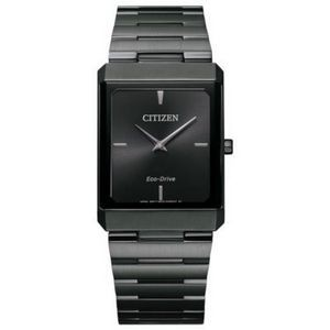 Citizen Stiletto Tank Unisex Large Black Watch w/Black Dial
