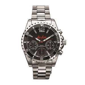 The Halstead Mens Watch - Silver/Black
