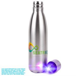 HD-200 Self-Sanitizing 17oz Water Bottle With UV-C Light Cap (Direct Import - 8-10 Weeks Ocean)
