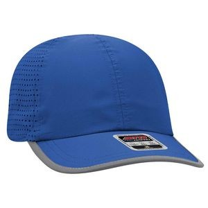 OTTO 6 Panel Polyester Pongee Perforated Back with Reflective Binding Trim Visor Running Hat