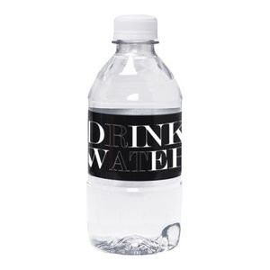 12 Oz. Custom Labeled Bottled Spring Water w/Flat Cap