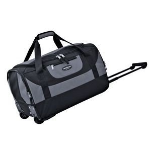 "20"" Polyester Rolling Carry-On Duffel w/Telescopic Handle & Blade Wheels"