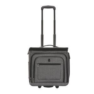 "TPRC 16"" TOP-EXPANDABLE UNDERSEATER ROLLING CARRY-ON w/USB CHARGING PORT"