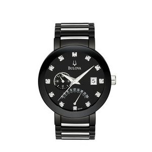 Bulova Men's Black Diamond Bracelet Watch