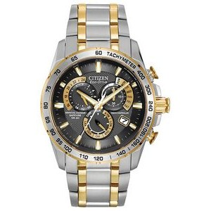 Citizen Men's Atomic Eco-Drive Watch with Perpetual Calendar, Two-tone