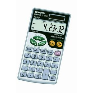 Sharp EL344RB 10 Digit Calculator with Punctuation