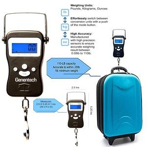 iBank(R) Digital Luggage Scale with Hook