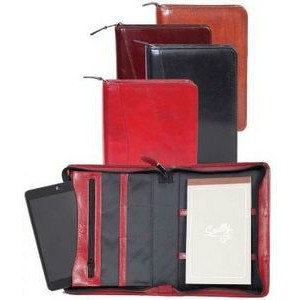 Embossed Leather Mini Tablet Organizer