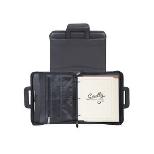 Nappa Leather Binder w/Drop Handles