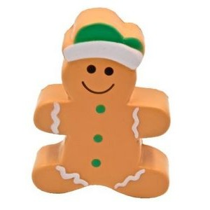 Gingerbread Man Stress Reliever Squeeze Toy