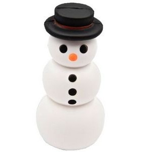 Snowman with Top Hat Stress Reliever Squeeze Toy