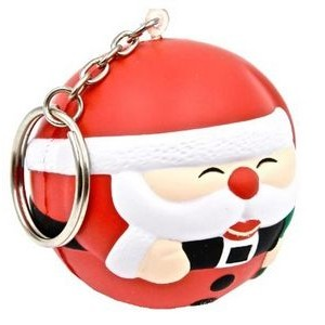 Santa Ball Key Chain Stress Reliever Squeeze Toy