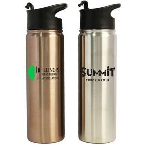 24 Oz. Stainless Steel Vacuum Insulated Bottle w/flip closure