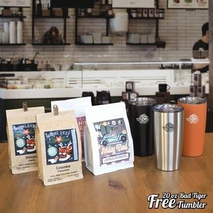 Direct Trade Specialty Coffee - Deluxe Gift, Free Bad Tiger Tumbler