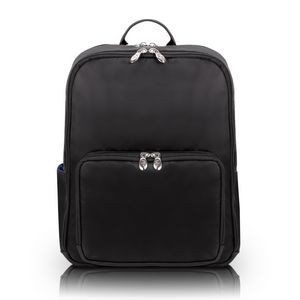"TRANSPORTER | 15"" Black Nylon Dual-Compartment Laptop & Tablet Backpack 