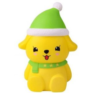 CutieLine Slow Rising Scented Christmas Dog Squishy