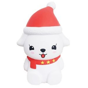 CutieLine Slow Rising Scented White Christmas Dog Squishy