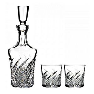 Waterford Wild Atlantic Way Decanter & 2 Rock Glasses