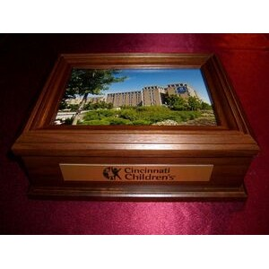 Wooden Gift Box w/Engraved Plate