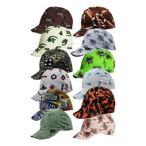 Preshrunk Cotton Welding Cap - 4 Panel/ Assorted Patterns (Size 6 3/4 to 8)