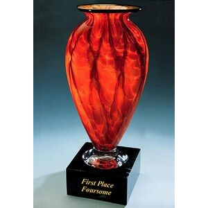 "First Place Foursome Trophy Vase w/ Marble Base (6.5""x13.75"")"