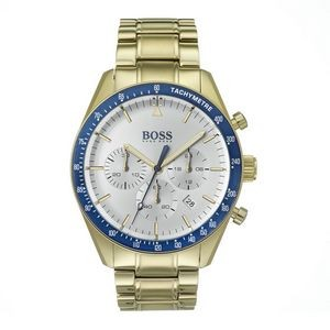 Hugo Boss Gentlemans Trophy Watch w/Gold Plated Bracelet