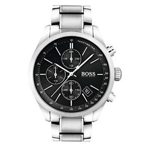 Hugo Boss Gentlemans Stainless Steel Grand Prix Watch w/Black Dial