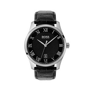 Hugo Boss Gentlemans Leather Master Watch w/Black Dial