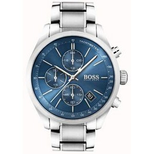 Hugo Boss Gentlemans Stainless Steel Grand Prix Watch w/Blue Dial
