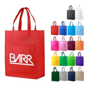Non-Woven Shopping Tote Bag with Front Pocket