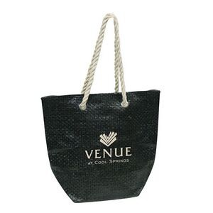 Woven Tote Bag w/Twisted Handle