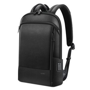 Genuine Leather Commuter Backpack
