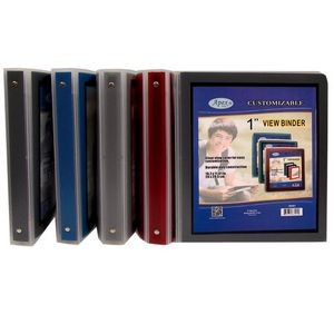 Apex 1 3-Ring Binder -Black, View Cover (Case of 36)