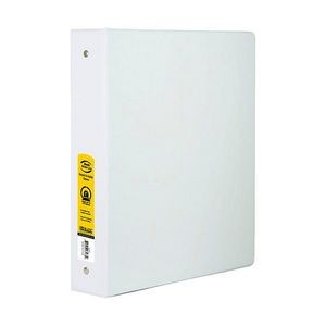 BAZIC 1 3-Ring Binder - White, 2 Pockets (Case of 24)