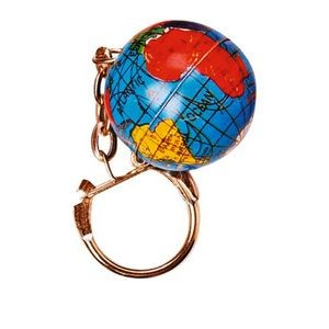 Metal Globe Key chains (Case of 17)