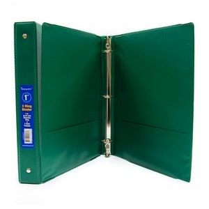 A+ Homework 1 3-Ring Binder - Green, 2 Interior Pockets (Case of 12)