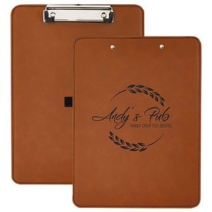 "Faux Leather Clipboard, Rawhide, 9"" x 12 1/2"""