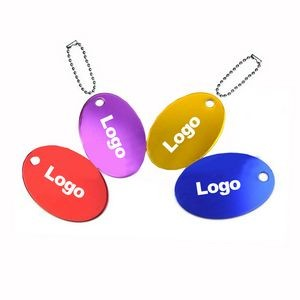 Oval Shape Aluminum Pet ID Tags