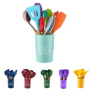 11 piece Silicone Kitchen Cooking Utensil Tool Set
