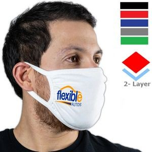 Sporty 2 Layer Mask w/ Elastic Earloops Custom Face Masks