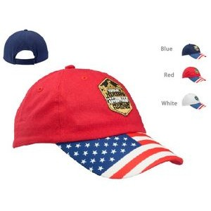 Patriotic Baseball Cap with Adjustable Velcro Strap